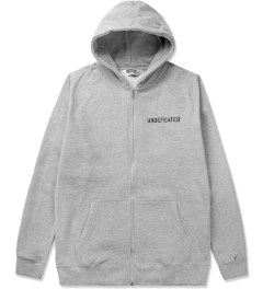 Undefeated Heather Grey Block Basic Zip Hoodie Picutre