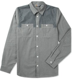Carhartt WORK IN PROGRESS Grey/Black Rigid L/S Harrison Shirt Picutre