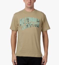 Billionaire Boys Club Cornstalk S/S Newsprint Logo T-Shirt Model Picture