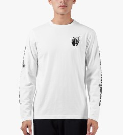 The Hundreds White Hyper L/S T-Shirt Model Picture