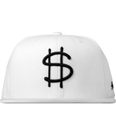 Stussy White Money Snapback Cap Picutre
