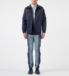 FACETASM Navy Multi Star Coach Jacket Model Picture