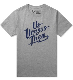 Us Versus Them Heather Grey Ballpark SS T-Shirt Picutre