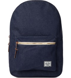 Herschel Supply Co. Indigo Denim/Navy Coated Cotton Settlement Canvas Backpack Picture