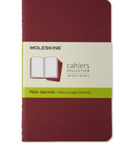 MOLESKINE Red Cahier Plain Pocket Journal Notebook Picture