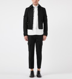 KRISVANASSCHE Black Tapered Leg Chino Pants Model Picutre