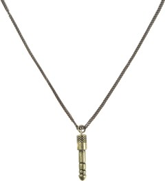Icon Brand Gold Headphone Jack Pendant Medium Cut Chain Necklace Picture