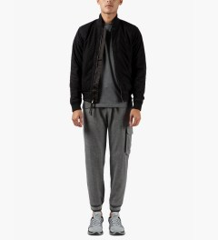 Band of Outsiders Grey Brushed Herringbone Cargo Sweatpants Model Picture