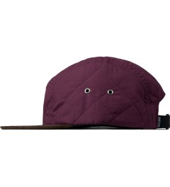 The Quiet Life Maroon Quilted 5 Panel Cap Model Picture
