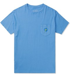 Lightning Bolt Azure Blue Aloha Pocket T-Shirt Picture