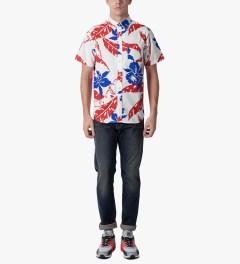 HUF White Copacabana S/S Woven Shirt Model Picutre