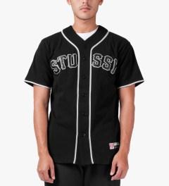 Stussy Black Stussy Baseball Jersey Model Picutre