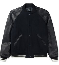 A.P.C. Dark Navy Teddy Kenickie Jacket Picture