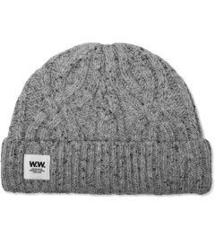 Wood Wood Light Grey Cable Beanie Picture