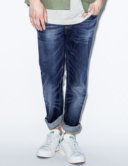 Nudie Jeans Blue Grim Tim Cold Crisp Denim Jeans Picture