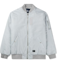 Stussy Silver Classic MA-1 Jacket Picutre