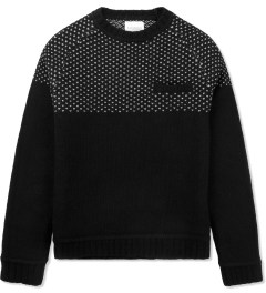 SATURDAYS Surf NYC Black Paul Birdeye Raglan Knitted Sweater Picture