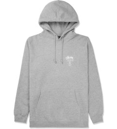 Stussy Heather Grey Camo App World Tour Hoodie Picture