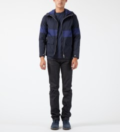Deluxe Navy Stingray Mountain Parka Jacket Model Picture
