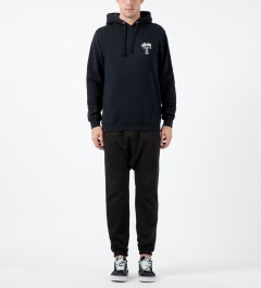 Stussy Navy World Tour Hoodie Model Picture