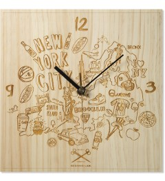 SECOND LAB Natural NYC Laser Map Clock Picture