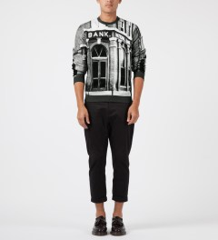 Carven Bank Print Crewneck Sweater Model Picture