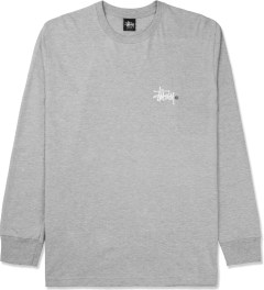 Stussy Heather Grey Basic Logo L/S T-Shirt Picture