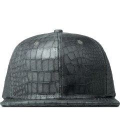 Stampd Grey Lambskin Lux Python 6 Panel Blank Snapback Cap Picture