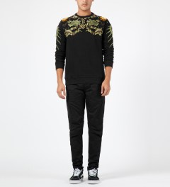maharishi Black Crewneck Sweater Model Picture