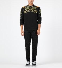 maharishi Black Crewneck Sweater Model Picture