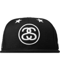 Stussy Black 6 Stars Starter Snapback Cap Picutre