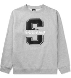 "Stussy Heather Grey Baron ""S"" Sweater Picutre"