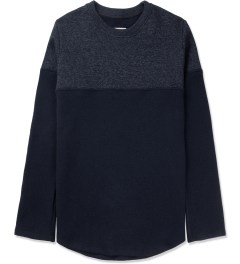 Still Good Navy Melange Jazzy Wool Sweater Picture