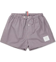 Thom Browne Navy/Red Micro Checked Poplin Boxer Picutre
