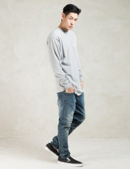 Stussy Grey Heather LS Basic Logo T-Shirt Picture