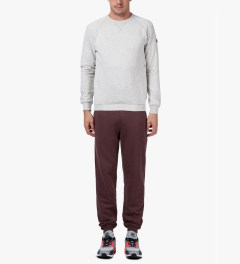 Marshall Artist Burgundy Melange Classic Sweatpants Model Picutre