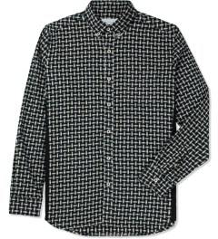 Liful Black Wool Puzzle Shirt Picture