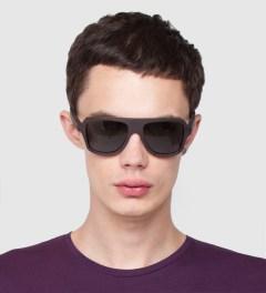 Shwood Ashland East Indian Rosewood Polarized Grey Sunglasses Model Picture