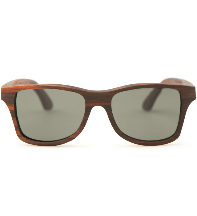 Canby East Indian Rosewood Polarized Grey Sunglasses