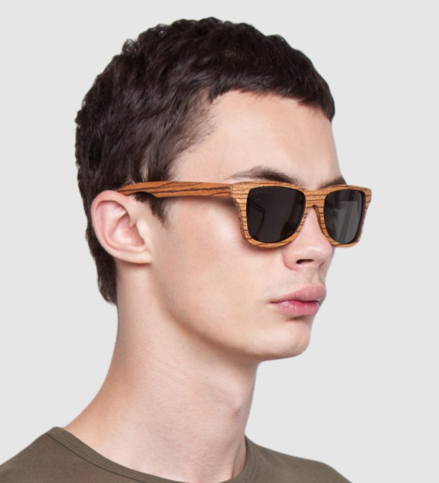 Canby Zebrawood Polarized Grey Sunglasses