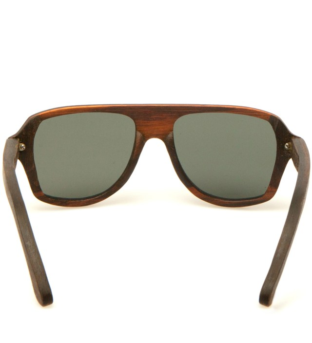 Ashland East Indian Rosewood Polarized Grey Sunglasses