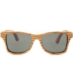 Shwood Canby Zebrawood Polarized Grey Sunglasses Picture