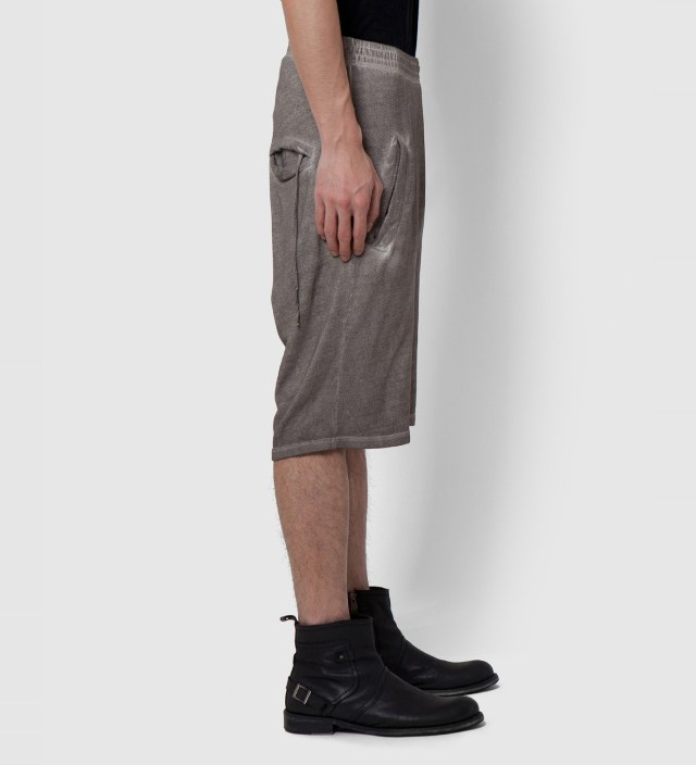 Grey Washed Silent Porss Heavy Jersey Shorts