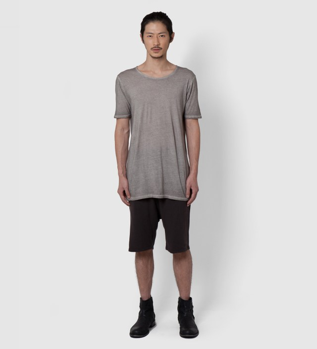 Grey Washed Silent Tonco Basic T-Shirt