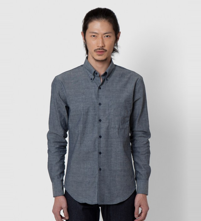 Lightweight Chambray Slim Shirt