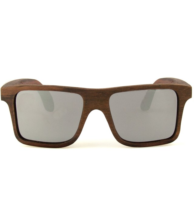 Govy East Indian Rosewood Mirrored Grey Sunglasses