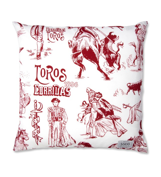 White/Red FUCT SSDD Toreros Print Pillow