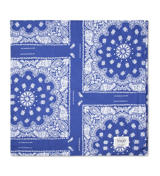 Blue/White FUCT SSDD Bandana Print Pillow