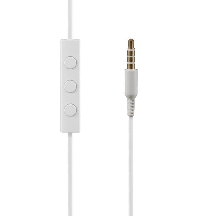 White NS200 Aluminum iOS Earphones