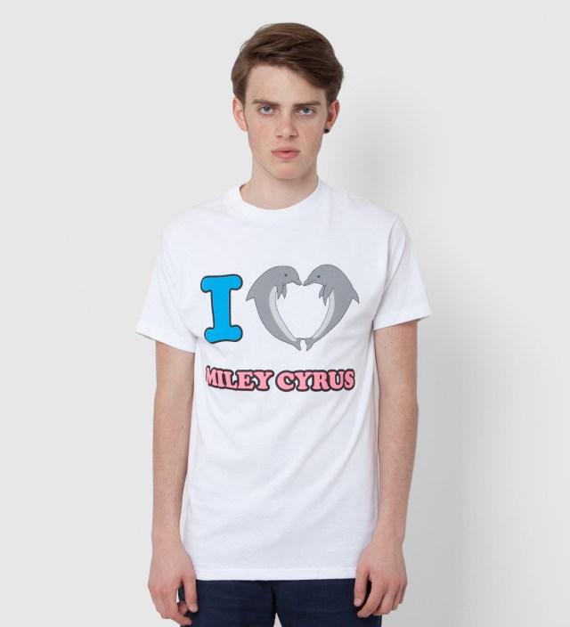 White Jasper Dolphin Heart Miley T-Shirt